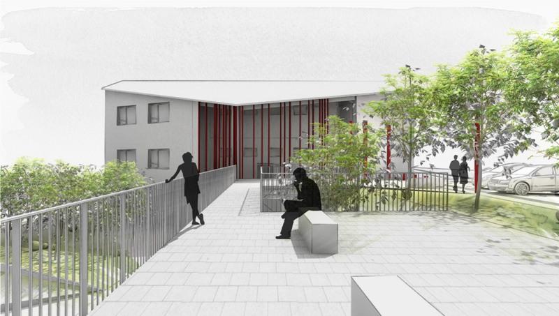 Höchenschwand - Rathaus Aussenanlage