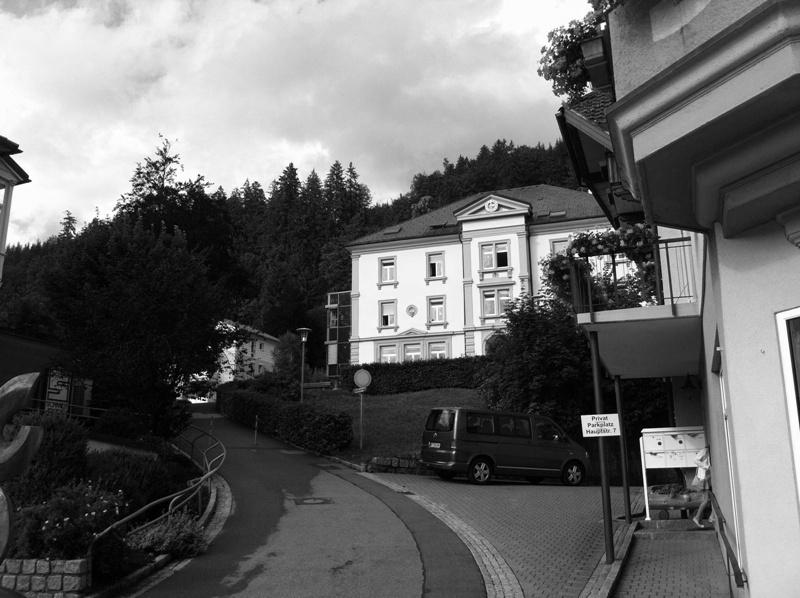St. Blasien - Fussweg Schulstrasse behindertengerecht